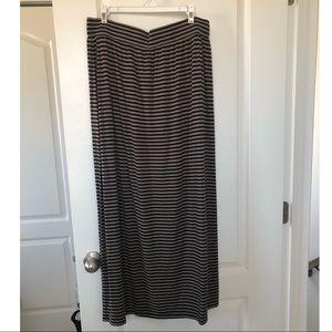 LOFT Cotton Maxi Skirt